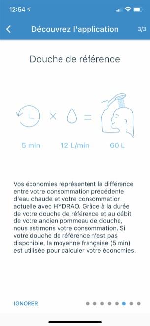 Réalisez une douche de référence pour avoir une base à l'évolution de votre consommation // Source : Frandroid - Yazid Amer