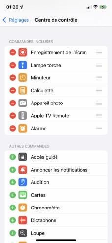 La commande Enregistrement de l'écran est maintenant en première position // Source : Frandroid - Yazid Amer