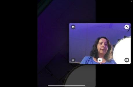 La fonction Cadre Centré en appel vidéo sur iPad mini // Source : FRANDROID - Anthony WONNER