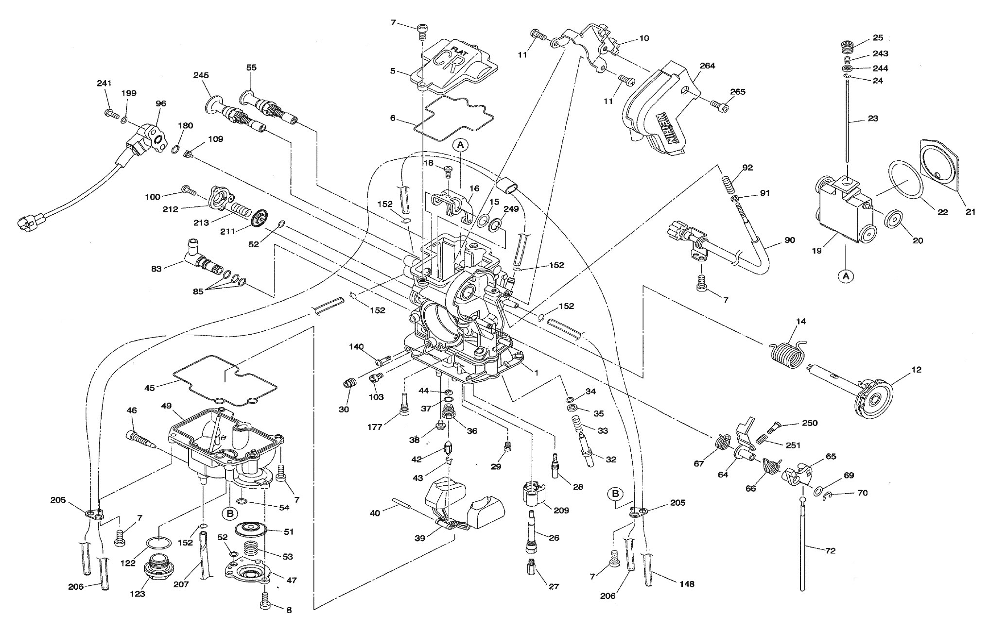 EXPLODED VIEW, PARTS DIAGRAM: Keihin FCR MX 32/37/39/40/41