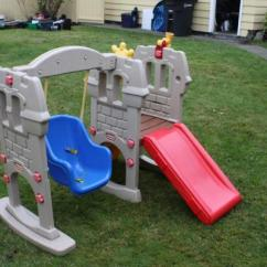 Fisher Price Swing Chair Counter Height Swivel Chairs With Back Little Tikes Along Slide Castle Play Set Climber - Vancouver Ad | Free Ads