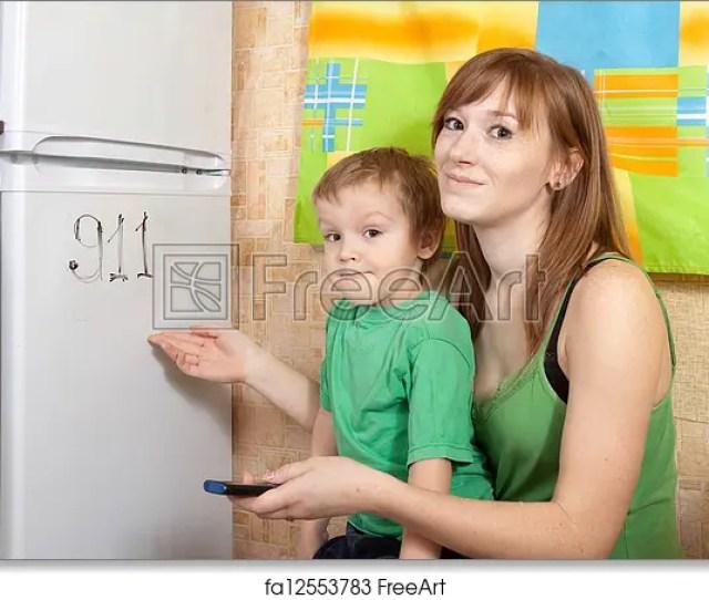 Free Art Print Of Mom Teaches Child