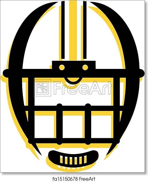 Free Art Print Of Graphic Outline Of Football Helmet Freeart Fa15150678