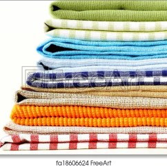Kitchen Napkins Bar Counter Free Art Print Of Stack Colorful