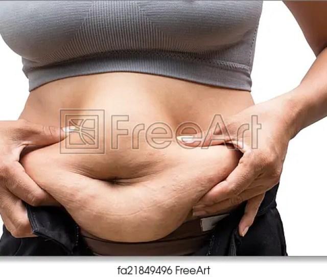 Free Art Print Of Fat Woman