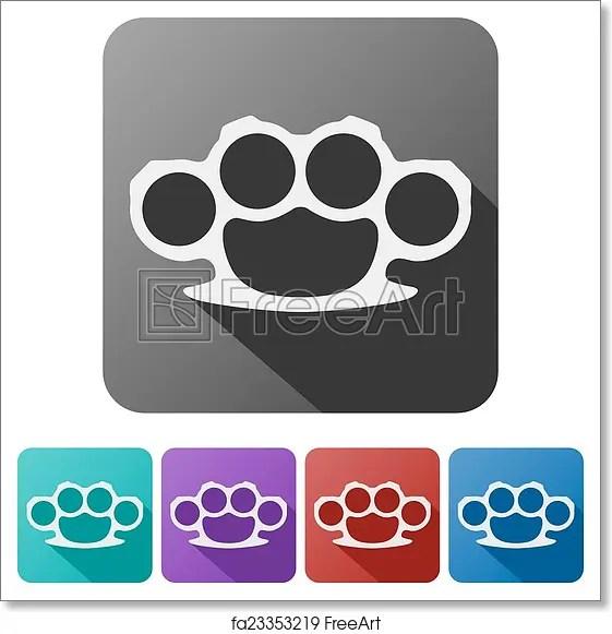 brass knuckles diagram dsc 1550 wiring free art print of set flat icons vector illustration