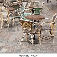 Parisian Cafe Chairs Home Theater Free Art Print Of And Table Paris France
