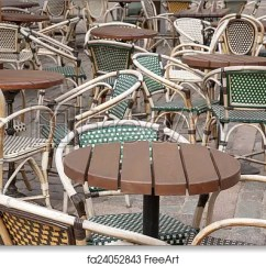 Parisian Cafe Table And Chairs Parsons Pier One Free Art Print Of Paris