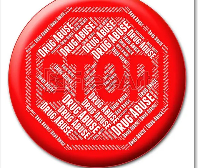 Stop Drug Abuse Showing Drugs Rehabilitation And Control