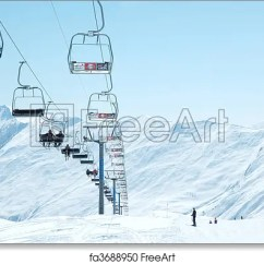 Buy Ski Lift Chair Accent Chairs Under 150 2 Free Art Print Of On Bright Winter Day Freeart