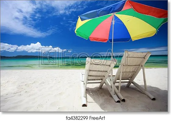 perfect beach chairs girls bean bag chair free art print of two and colorful umbrella