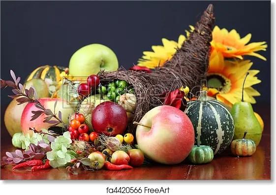 Free Art Print Of Cornucopia Autumn Cornucopia Symbol Of Food And Abundance Freeart Fa4420566