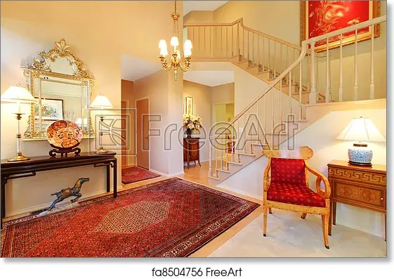red rugs for living room how to paint free art print of luxury entrance with rug staircase beautiful elegant and stair case freeart fa8504756