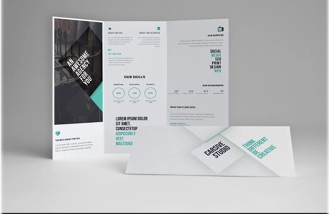 tri folded brochure templates