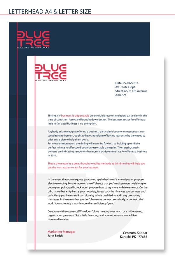 company head letter
