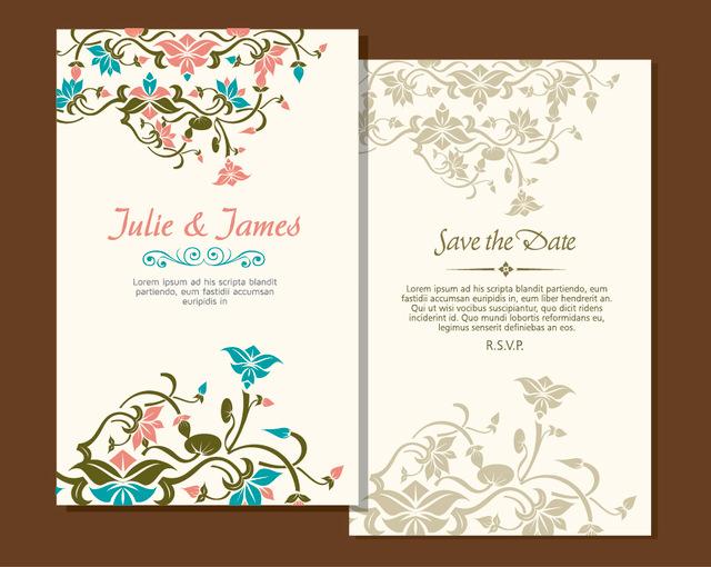 10 Free Vector Psd Floristic Wedding Invitation Card Designs