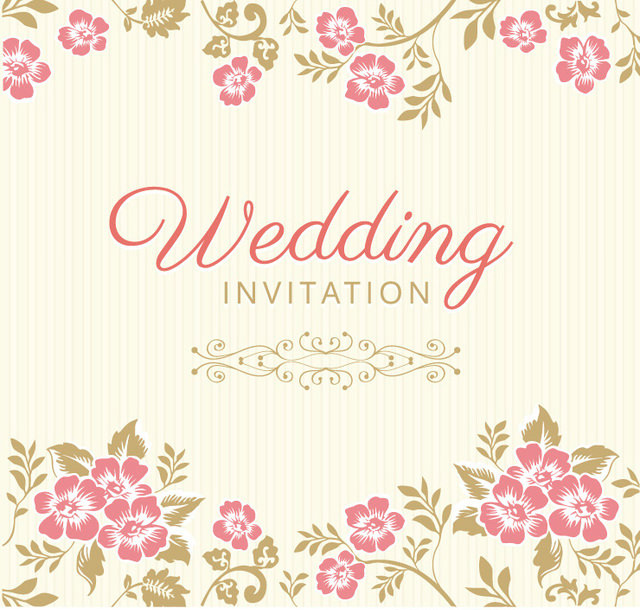 Beautiful Floristic Wedding Invitation Card