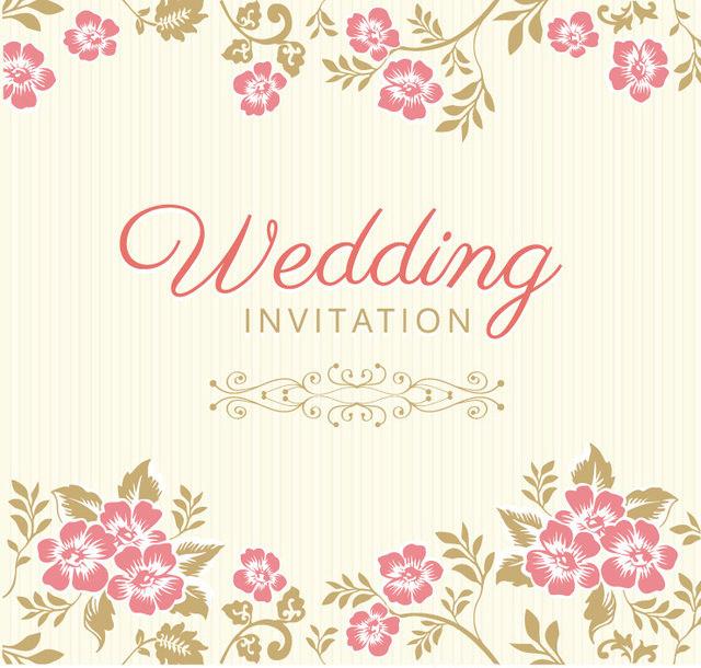 Beautiful Floristic Wedding Invitation Card