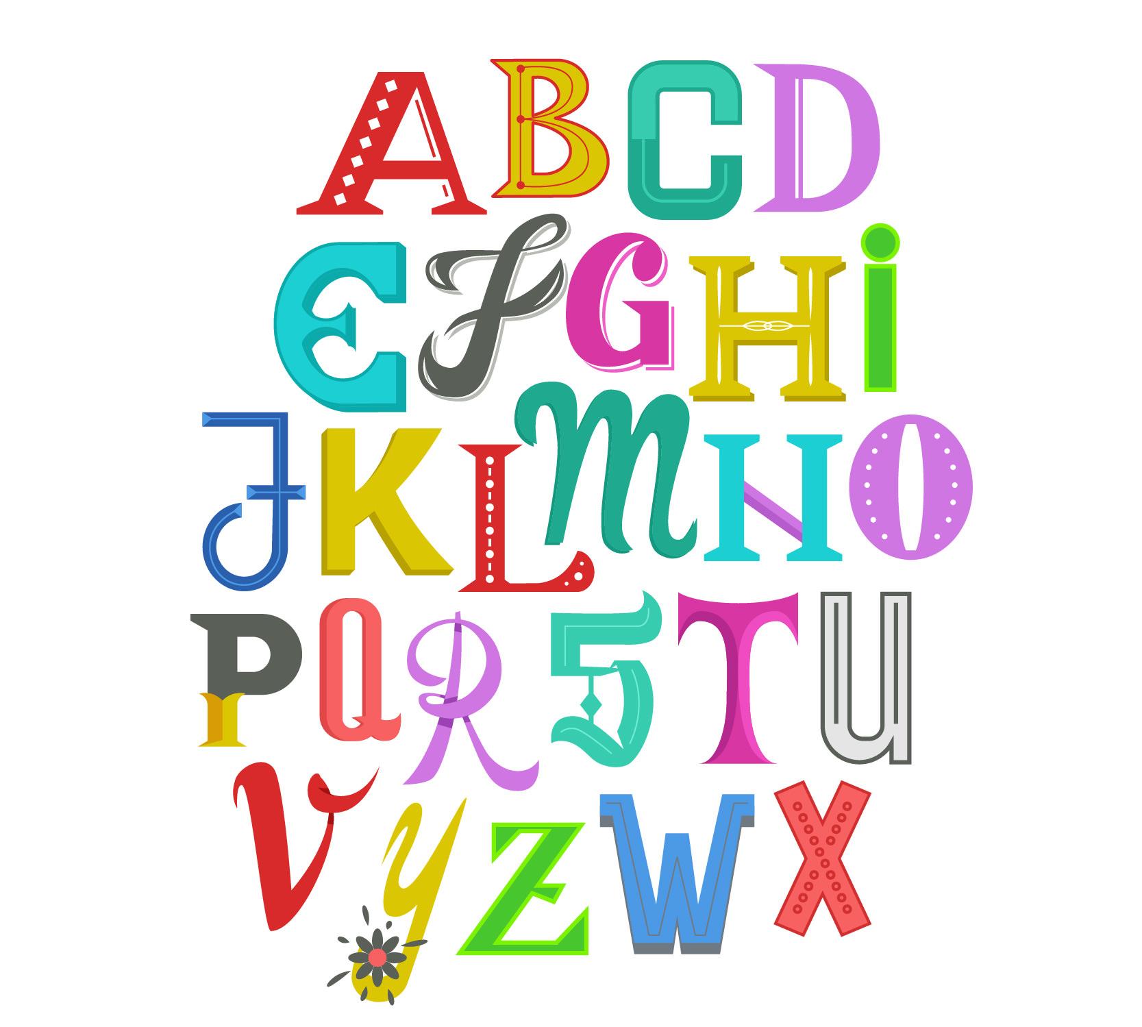 Cute Letters Font Alphabet