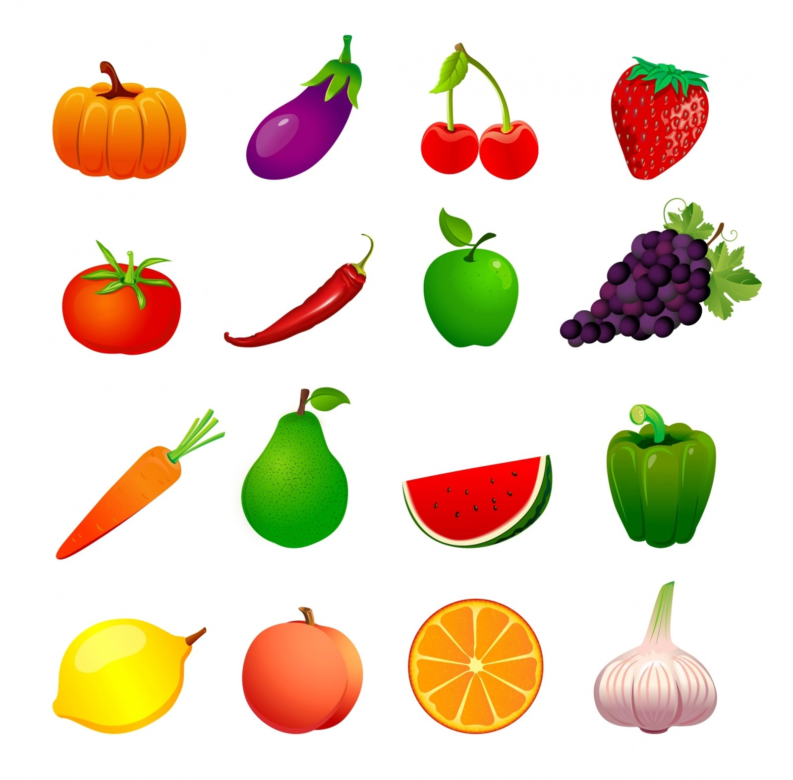 Download 50 Free Vector Fruits Amp Vegetables Icons