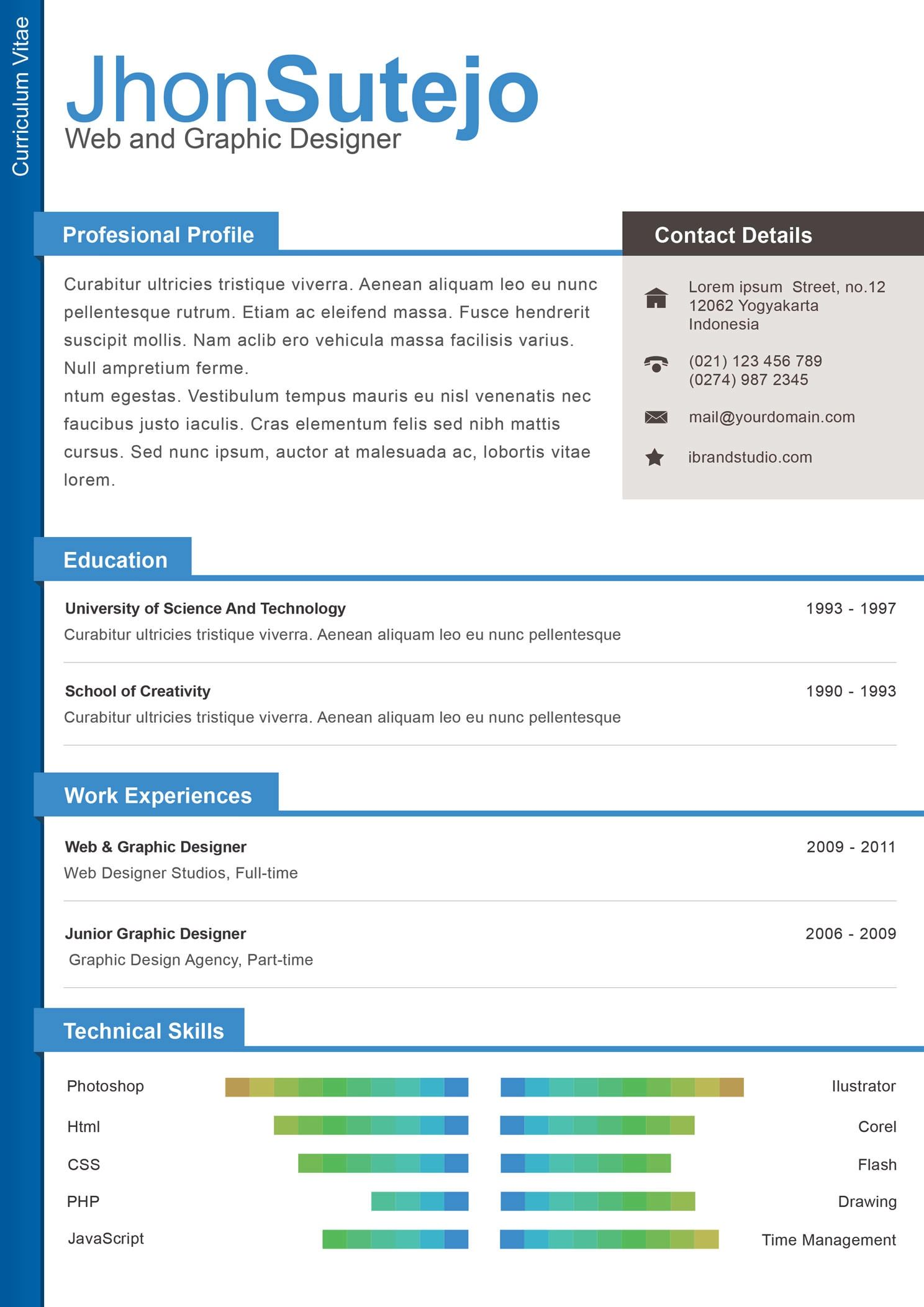 resume template that highlight skills
