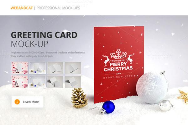 12 Free PSD Greeting Card Mockups FreeCreatives