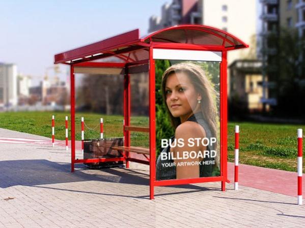 Download Free Bus Stop Advertising Mockup