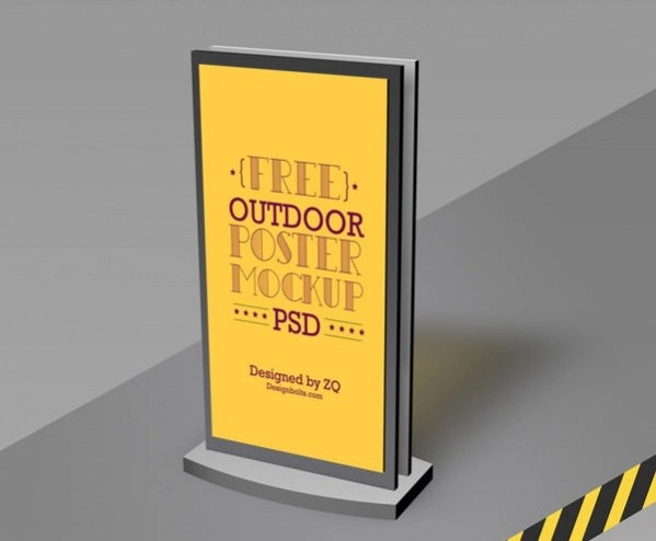 Free High-Quality Outdoor Poster Mockup
