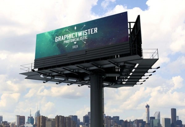 Free Triple Billboard Advertising Mockup