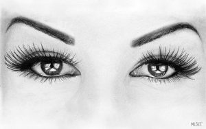 pencil eyes drawing drawings woman eye sketch realistic draw easy human creative pairs