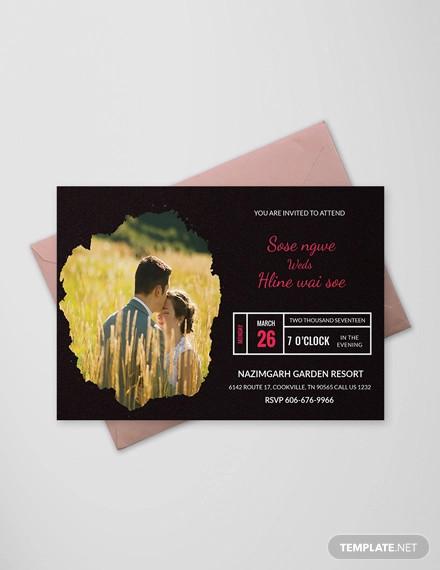 engagement invitation psd designs