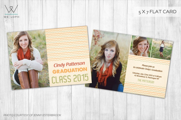 Back Graduation Invitation