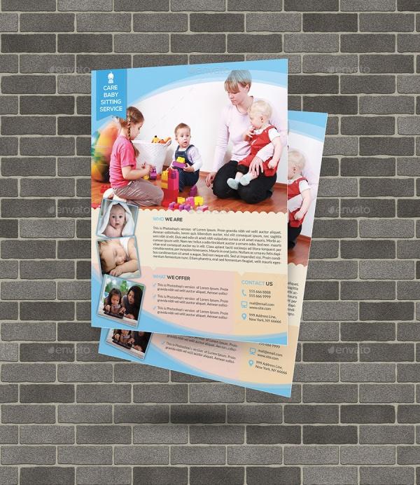 20 Beautiful Babysitting Flyer Templates Amp Creatives
