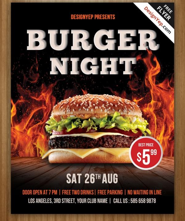 hamburger flyer