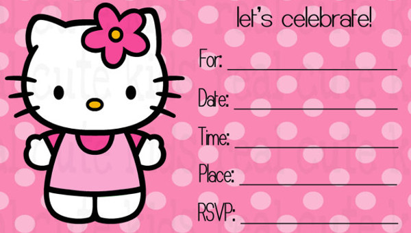 creative hello kitty invitation designs
