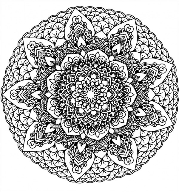 FREE 15+ Mandala Coloring Pages in AI | free coloring pages mandalas