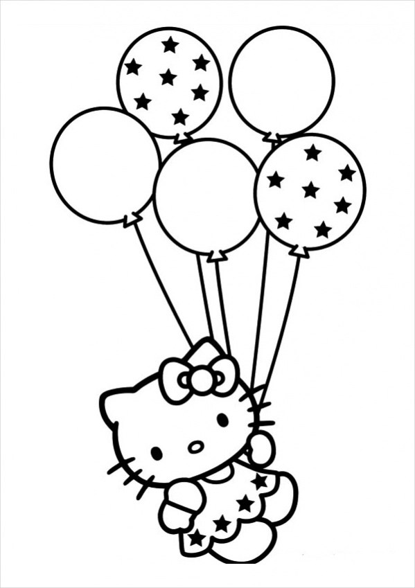 Free 18 Hello Kitty Coloring Pages In Pdf Ai