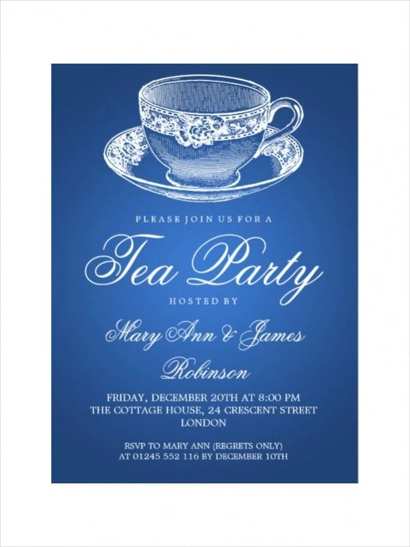 free tea party invitation