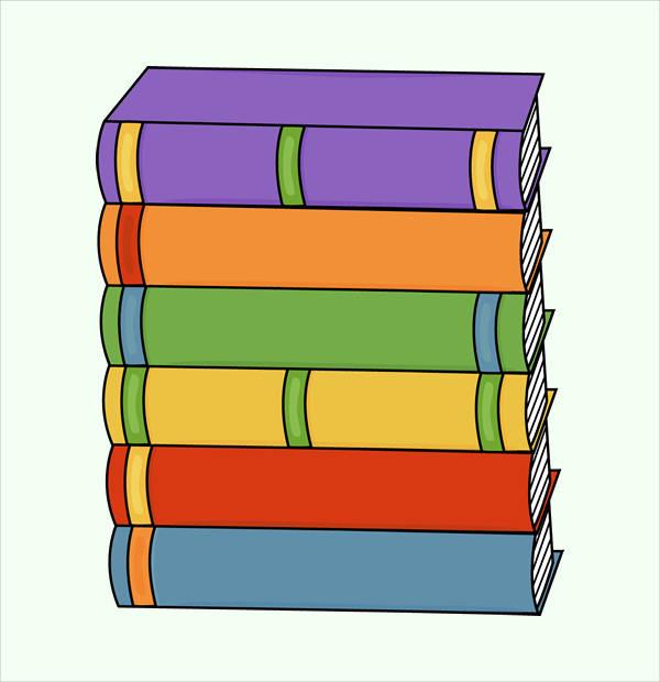 book cliparts - psd vector