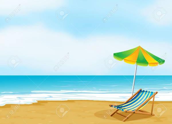 beach cliparts - free vector