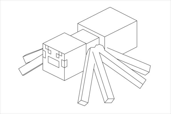 Minecraft Spider Coloring Pages Car Tuning Sketch Coloring