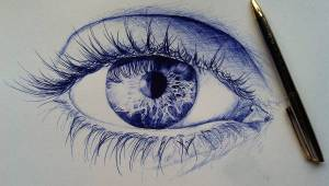 pen drawings eye drawing ballpoint eyes simple