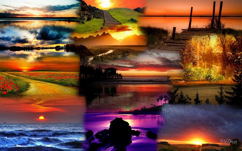 New Year 2014 Hd Wallpapers Hd Sunset Collage 1 Wallpaper Download Free 81017