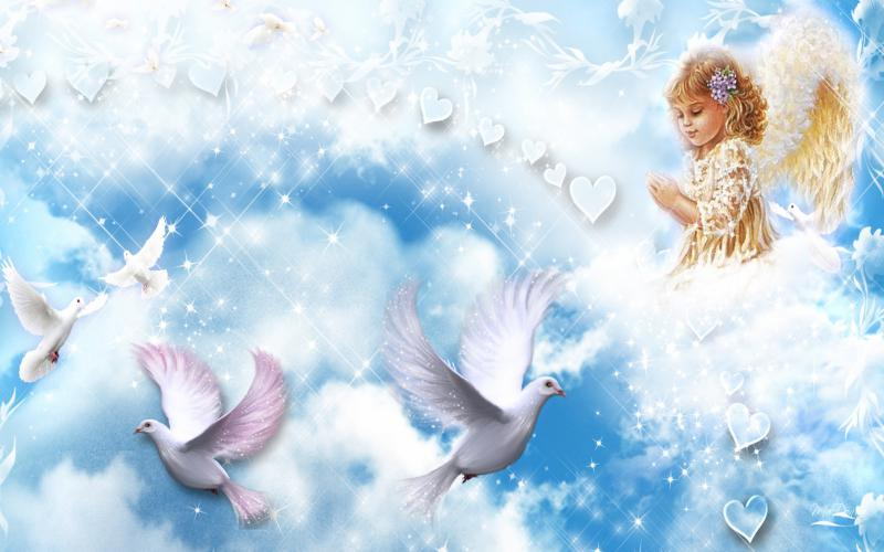 Cute Animated Food Wallpaper Hd Angels Cloud Wallpaper Download Free 95312