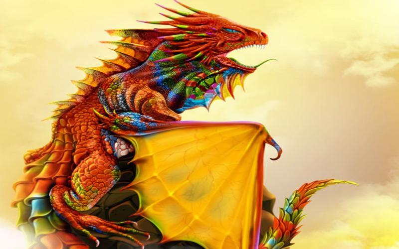Cute Wallpaper Floral Hd Rainbow Dragon Wallpaper Download Free 120382