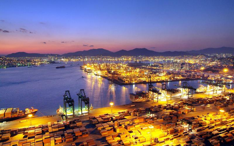 Wallpaper Korea 3d Hd Busan Korea Port At Night Wallpaper Download Free