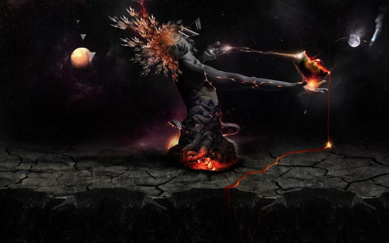 Anime Wallpaper Goddess Girl With Black And White Hair Hd Destruction Of The Earth Wallpaper Download Free 102540
