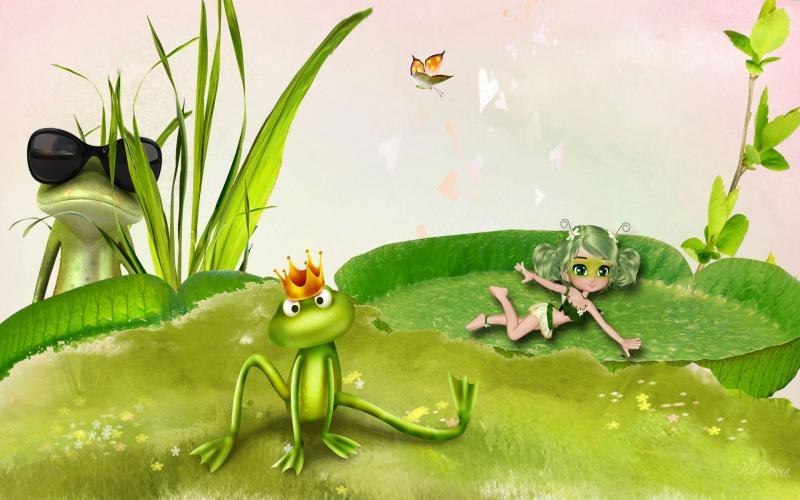 Cute Wallpapers Trees Hd Peeping Frog Wallpaper Download Free 117690