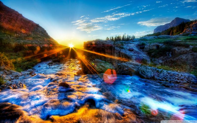 HD Amazing River Lscape Hdr Wallpaper  Download Free  55378