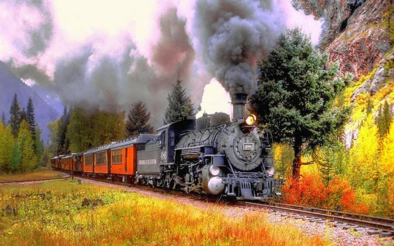 Fall Foliage Computer Wallpaper Hd Autumn Train Trip Wallpaper Download Free 55509